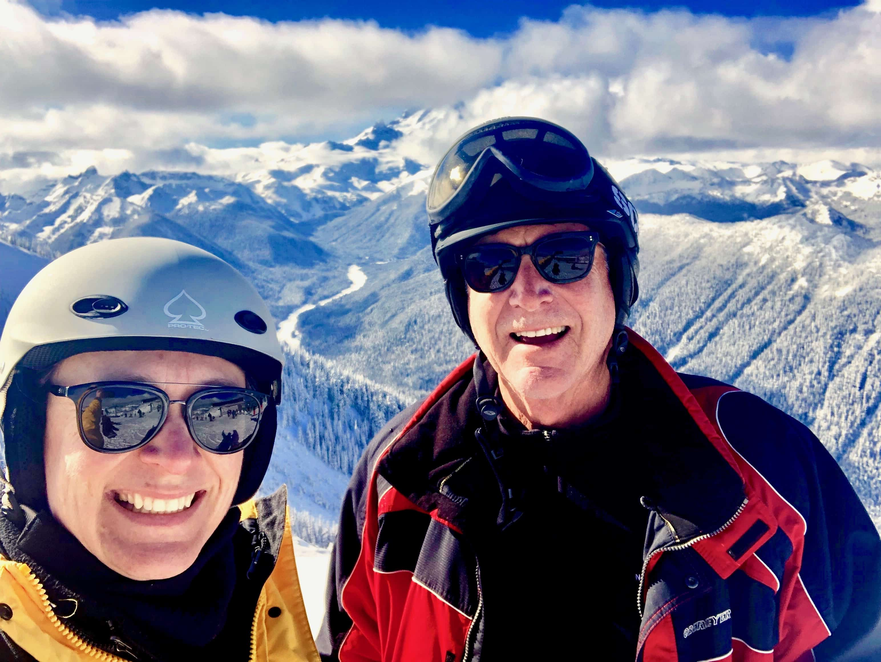 Tim and daughter, Tara. Bateman at the Top of Crystal Mountain.