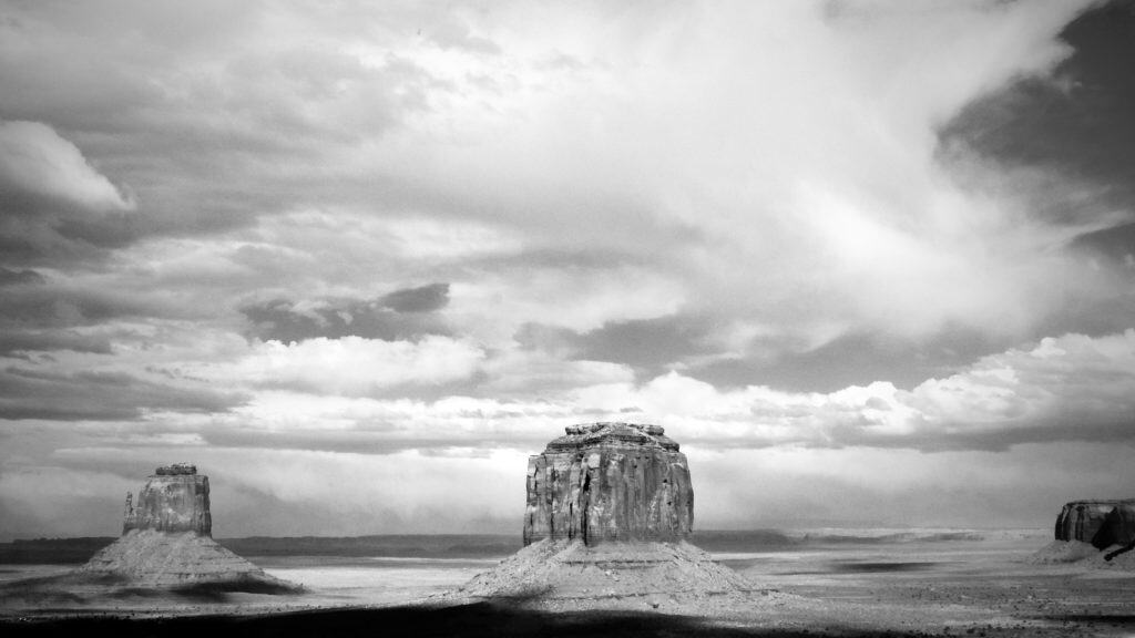 A Study in Black and White. Monument Valley, photography by Tim Bateman
