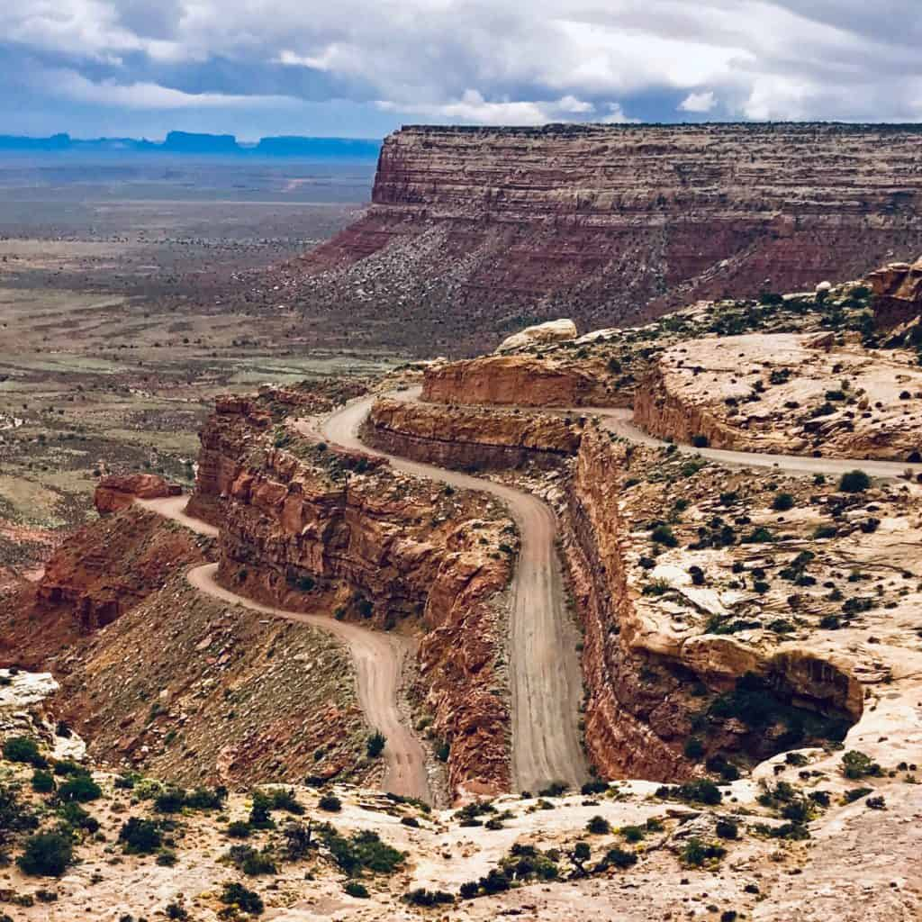 Moki Dugway switchbacks southern Utah