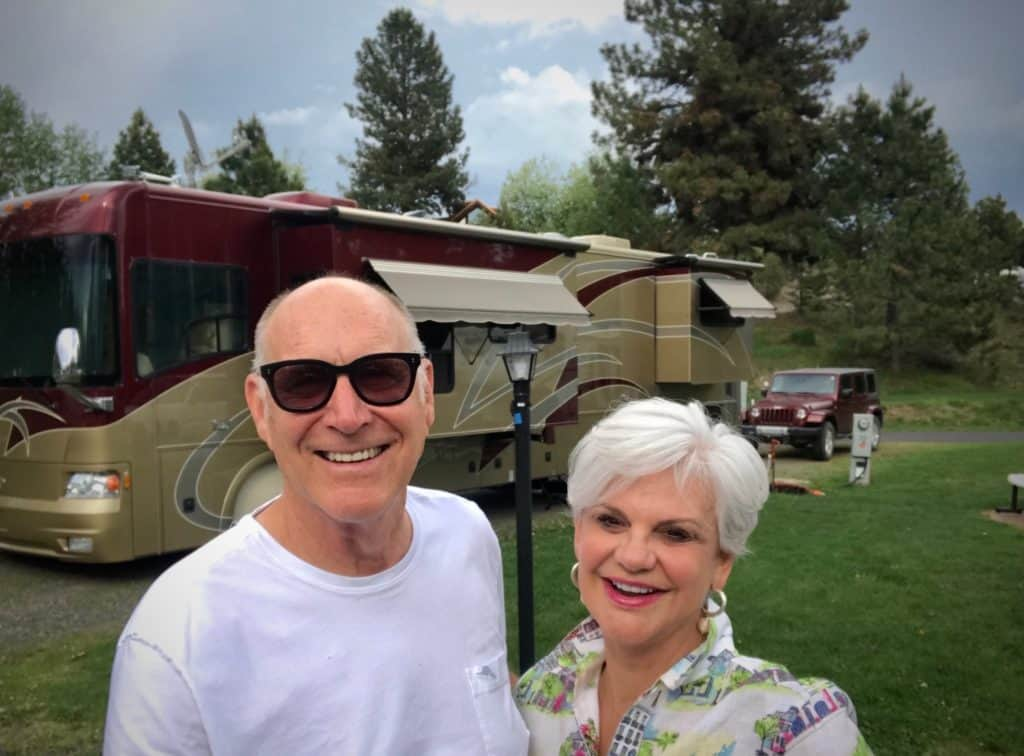Tim and Deborah at the G7 McCall RV Resort, McCall, Idaho