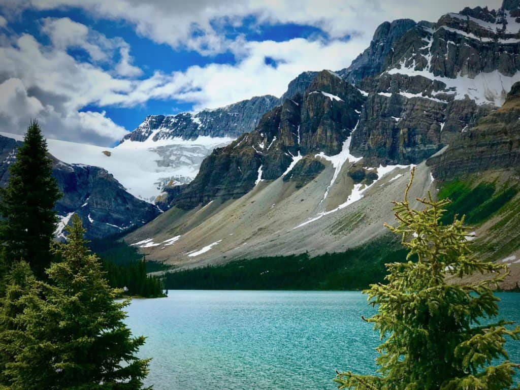 Bow Lake and the Crowfoot Glacier