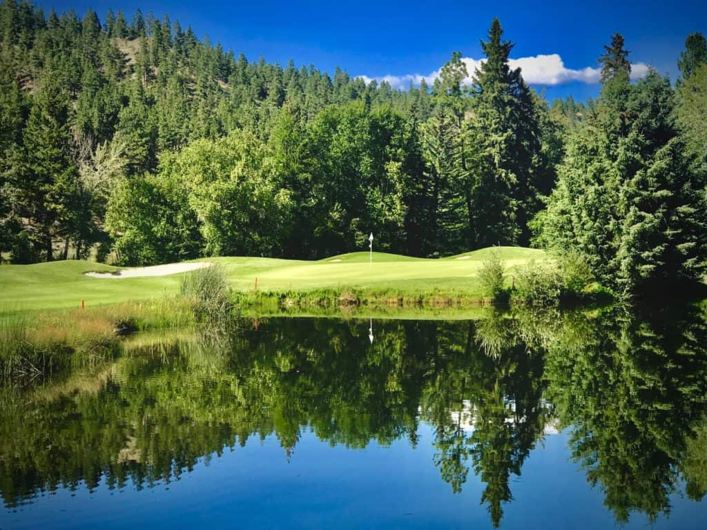 cultivating play at St. Eugene golf course