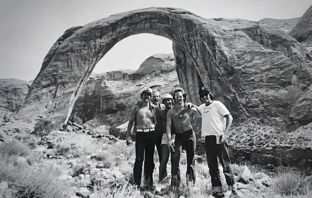 Rainbow Bridge: Donnie, Tim, and Bob (left three) from an early 1970s photo